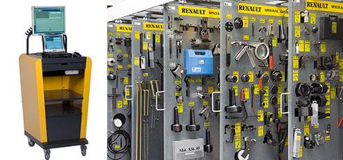 診断機と専用工具