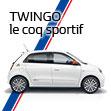 Renault TWINGO le coq sportif Debut.